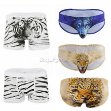 Wolf Mens Trunks Boxer Brief Shorts Underwear Bulge Pouch Bikini Swim Underpants