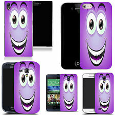 art case cover for many Mobile phones - purple smiley character silicone