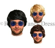 MENS ADULT BOYBAND WIG FANCY DRESS SHORT WIGS POP PARTY COSTUME 60S 70S 80S