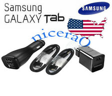 """USA Travel Wall Car Charger Cable for 7,10.1"""" For Samsung Galaxy Tab 2 Tablet"""