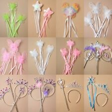 PACK OF 12 FAIRY, BUTTERFLY WANDS, COSTUME, DRESS UP, PRINCESS, PARTY, HEN