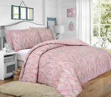 New Paisley Moroccan Peach Reversible Duvet Quilt Cover Pillowcase Set All Size