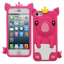 Cute Pretty Princess Pig Phone Case Cover Protective Silicone for fits iPhone 5C