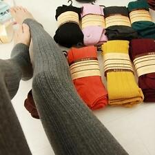 Womens Warm Winter Thick Skinny Slim Knitted Half Foot Leggings Stretch Pants