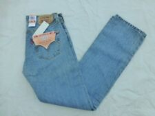 NWT MENS LEVIS 501 BUTTON FLY STRAIGHT LEG JEANS $50 00501-0134 LIGHTER BLUE