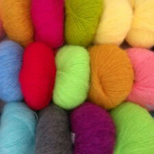 Colorful Comfortable Luxury Angola Mohair Cashmere Wool Yarn Skeins Winter