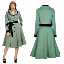 Collectif Imma Princess Winter Coat Classic Rockabilly 1950's Vintage Pin Up