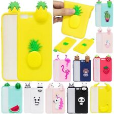New Cute 3D Cartoon Soft Silicone Rubber Case Cover Skin For iPhone 8/7/6/6/5/SE