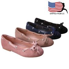 Chic Contemporary Girl's Slip On Bow Tie Ballerina Ballet Flats Black