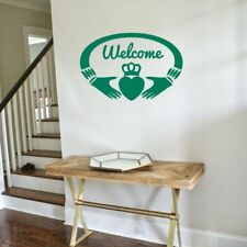 CLADDAGH WELCOME Irish Celtic Interior Wall Art Decal Decor Sticker