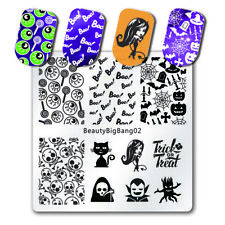 BeautyBigBang Square Nail Art Lace Flower Stamp Plates Template Plate Stencil US