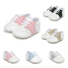 Baby Girl Boys Soft Sole Crib Shoes Toddler Sneakers PU Leather Flat Shoes 0-18M