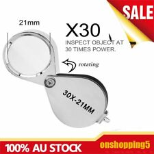 30X Glass Magnifying Magnifier Jeweler Eye Jewelry Loupe Loop AU