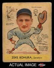 1938 Goudey Heads Up #276 Zeke Bonura Senators GOOD