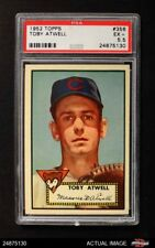 1952 Topps #356 Toby Atwell Cubs PSA 5.5 - EX+