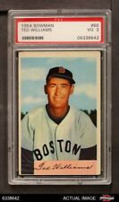 1954 Bowman #66 Ted Williams TED Red Sox PSA 3 - VG