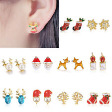 Fashion Christmas Xmas Dangle Stud Claus Earrings Ear Womens Jewelry Family Gift