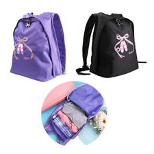 Kids Girls Ballet Dance School Shoulder Gyms Bag Backpack Toe Shoes Embroidered
