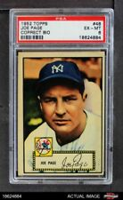 1952 Topps #48 Joe Page Red Back Correct Bio Yankees PSA 6 - EX/MT