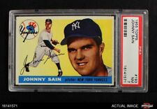 1955 Topps #193 Johnny Sain Yankees PSA 7 - NM