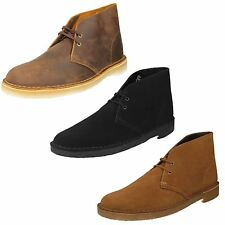 MENS CLARKS ORIGINALS LEATHER SUEDE LACE UP ANKLE CASUAL SMART BOOTS DESERT BOOT