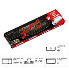 Smoking Deluxe Kingsize Slim Rolling Papers With Tips - 2/4/8/12 & 24 Full Box