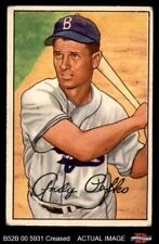 1952 Bowman #204 Andy Pafko Dodgers VG