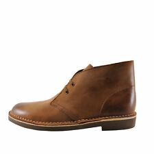 Clarks Bushacre II Dark Tan Men's Chukka Desert Leather Boots 29525