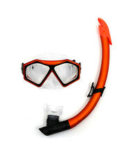 TBF 2PC DiveSport Silicone Mask & Standard / Dry Top Snorkel Set Swimming Diving