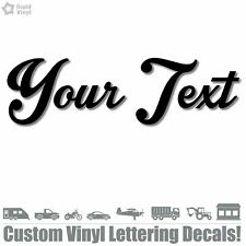 Your Text Vinyl Decal Sticker Car Window Bumper Custom Lettering Personalized