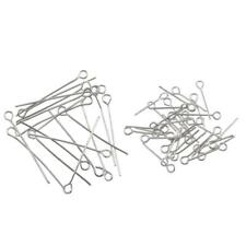 Lot Of 100Pcs Silver Plated Metal Head Eye Pin Jewelry Findings 17mm/30mm