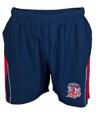 Sydney Roosters NRL Kids Microfibre Training Footy Shorts BNWT Rugby Clothing