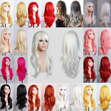 Real Quality Thick Long Hair Full Wig Curly Straight Wavy Cosplay Party Wigs #xc