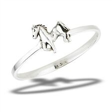 Adorable Petite .925 Sterling Silver HORSE Ring Size 3-8