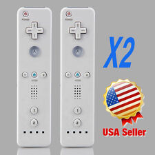 2 pcs NEW Wireless Remote Controller+Wrist for Nintendo Wii Game White LOT HX
