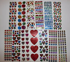 Hambly stickers 1 sheet - party stars hearts occasion ABC You Choose!