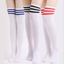 Warm Thigh High Stripe Socks Over Knee Soccer Long Stocking Knee High Socks Girl