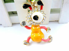 Betsey Johnson Cute Ant Bear Crystal Rhinestone Pendant Necklace