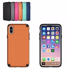 New iPhone X Case Heavy Duty Dual Protection Bumper Anti-Slip Texture Hard Cover
