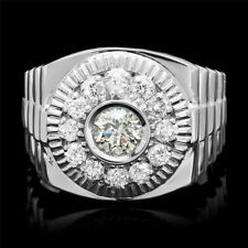2.3CT White Topaz Women 925 Silver Jewelry Wedding Engagement Ring Size 6-10