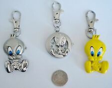 NEW TWEETY PIE CARTOON CHARACTER KEYRING/KEY CHAIN PENDANT POCKET FOB WATCH