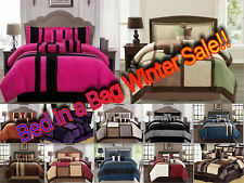 Luxurious 11-PC Micro Suede Winter Soft Comforter Set Bed In A Bag W/ Sheet Set!