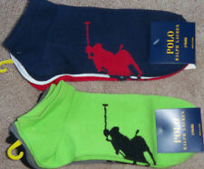 New Mens POLO Ralph Lauren 3-Pack Big Pony No Show Socks