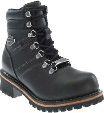 Harley-Davidson® Women's Ladson Waterproof Black Leather Motorcycle Boots D87103