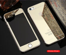 Mirror Tempered Glass Front+Back Screen Protector For iphone 8 7 6 6S Plus 5S