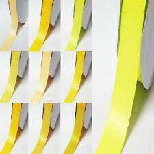 """by the 5 YARDS double sided satin ribbon 2"""" / 50mm yellow-orange"""