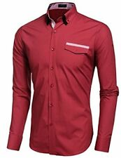 Coofandy Mens Casual Slim Fit Button Down Shirts Contrast Inner Dress