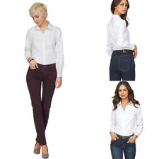 Womens Work Office Shirts New Formal Shirt Ladies Tops Blouses Long Sleeved
