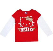 Toddler Girls Hello Kitty Red Long Sleeve Christmas Holiday Shirt 12M 2T