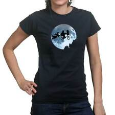 Extra Terrestrial Halloween Ghost Scary Ladies T shirt Tee Top T-shirt